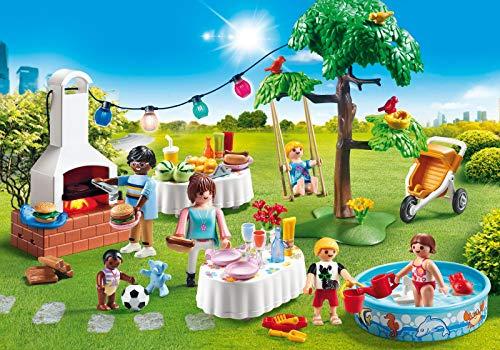 Playmobil 9272 City Life - Juego de construcción, diseño de familia y barbacoa