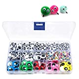 1500pcs Googly Wiggle Eyes Self Adhesive, for Craft Sticker Multi Colors and Sizes for DIY...