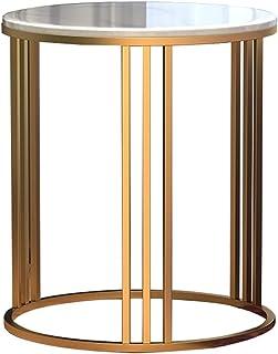Table d'appoint de canapé en marbre, Table Basse Ronde Table de Chevet pour Salon Chambre à Coucher Balcon de Bureau à la ...