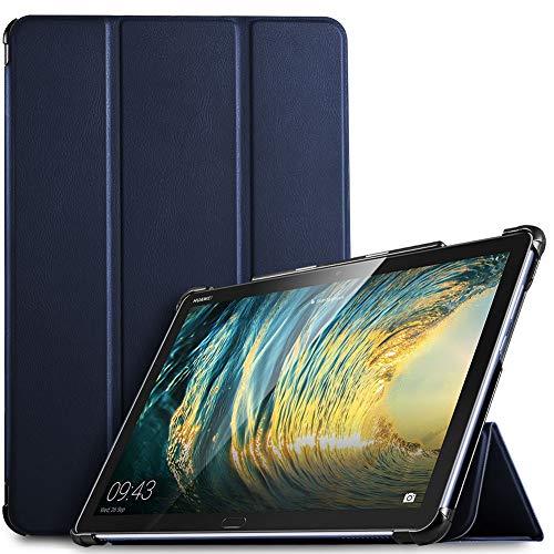 IVSO Hülle für Huawei MediaPad M5 Lite 10, Ultra Schlank Slim Schutzhülle Hochwertiges PU mit Standfunktion Ideal Geeignet für Huawei MediaPad M5 Lite 10 10.1 Zoll 2018 Modell, Blau