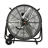 Aain(R) AA011 24-Inch High Velocity Industrial Drum Fan, 7500 CFM Air Circulator for Warehouse, Garage,...