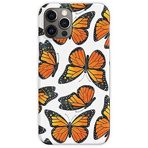Pattern Iridescent Insect Watercolor Monarch Pretty Butterfly Butterflies Pure Clear for iPhone 12/11 Pro Max 12 mini SE X/XS Max XR 8 7 6 6s Plus Custodie per Telefoni