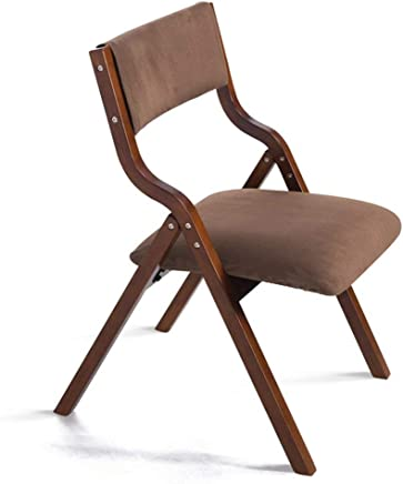 ZHJBD Furniture Stool Wooden Folding Chair with Backrest which can used for Desk Dining Makeup Child Learning Chair for Home  amp  Commercial Brown