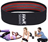Resistance Bands for Women & Men Fabric Exercise Bands / Booty Bands Hip Excersize Glute Squat Butt and Legs Workout Bands / Loops Fitness Resistant Band (Black)