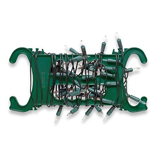Sunware Haspel für Weihnachtsleuchten zum Aufwickeln von Lichterketten, Lichtschläuchen - 2er Set - 325 x 150 x 15mm - rot