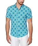 Cubavera Men's Pique Shirt, Capri Breeze, X Large