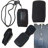 Around The Neck Open top Canvas case fits Jethro SC729 Senior Flip Phone