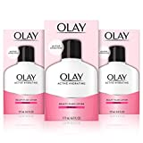 Olay Active Hydrating Beauty Moisturizing Lotion, Facial Moisturizer To Restore Dry Skin, Newer Version - 6.0 Fl Oz, Pack of 3
