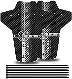 FETESNICE MTB Guardabarros, Guardabarros Bicicletas,Delantero y Trasero Mudguard Adapta a 26', 27.5', 29' Guardias de Barro Bicicleta de montaña (Blanco)