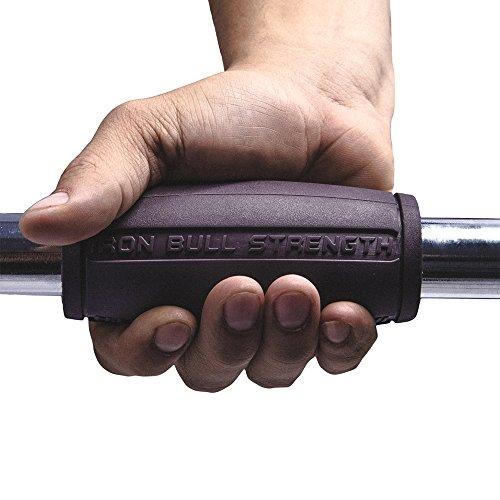 Alpha Grips 2.0 Inch Durchmesser – 1 Paar – Extrem Arm Blaster – Ergonomische Dicke Griffe – Beste Fat Bar Training Griffe (Grau) - 3