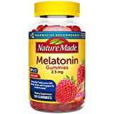 Nature Made Melatonin Gummies 2.5 mg, 130 Count for Supporting Restful Sleep (Packaging May Vary)