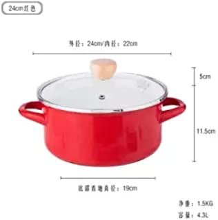 Olla Utensilios de cocina Olla de cocina Olla instantánea Olla de sopa de esmalte espesa de 24 cm 2L3L4L Cacerola Cacerola Olla caliente Olla freidora Juego de utensilios de cocina, 24 cm 4.3L