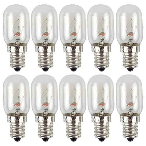 SOLUSTRE 10 Bombillas LED para Refrigerador E12S 10W 120V Bombillas de Nevera de Ahorro de Energía Iluminación del Techo Congelador para La Cocina Decoración de Baño Transparente