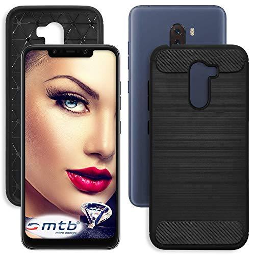 mtb more energy® Funda TPU Carbono para Xiaomi Pocophone F1 (6.18'') -...