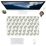 HUBNYO Alfombrilla de escritorio de oficina de piel de dinosaurio, superficie lisa, fácil de limpiar, resistente al agua, protector de escritorio para la oficina/juegos en el hogar