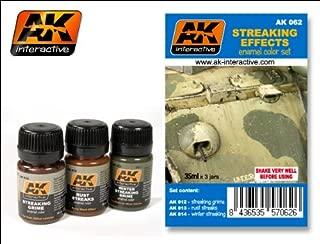 Streaking Effects Enamel Paint Set (12, 13, 14) AK Interactive