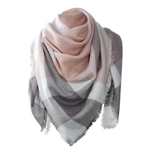 Glamexx24 XXL Schal Kuschelige, warme und wunderschöne Damen Poncho Schal mit verschiedenen Muster Schal Poncho, 2 Rosa, Einheitsgröße
