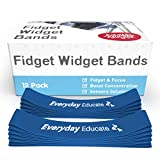 Chair Bands for Kids with Fidgety Feet| Fidget Bands for Classroom Chair, Seats, Desk, or Bouncy Bands - (12 -Pack) Anti-Snap & Non-Slip - Flexible Seating for Kids with ADHD and Sensory Needs