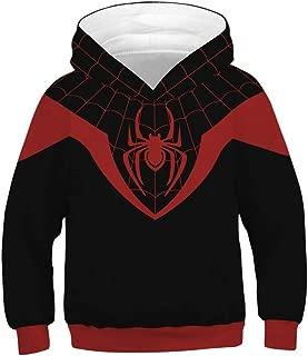 Spiderman Hoodie Kids,Unisex Youth Teen Pocket Hoodies Costume Cosplay 3D Jackets Pullover