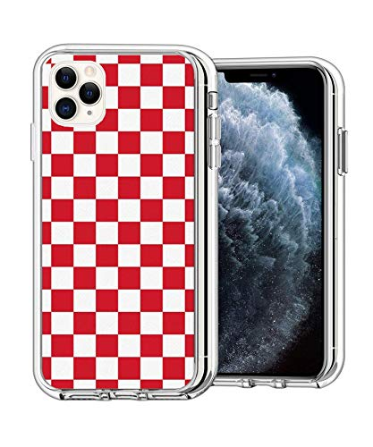 Case Phone Clear Anti-Scratch Motion Edition Red Checkered Cases for iPhone XR