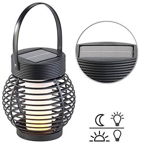 Lunartec Laterne Solar: Solar-Gartenlaterne mit 51 Flammeneffekt-LEDs & Dämmerungssensor, IP44 (Flammeneffekt-Licht-Laterne)