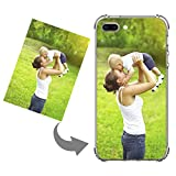 Personalized Case for iPhone 7 Plus/8 Plus Create Your Own Phone Case with Photo Text Soft Silicone Shock Absorbing Protective Cover