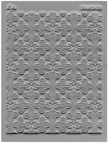 Great Create Tolle schaffen Gummi Lisa Pavelka einzelne Textur Stempel 10,8cm x 14, Fleur de Lis