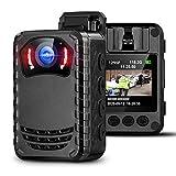 BOBLOV N9 Mini Cámara de Cuerpo para Policía, Cámara Espía Pequeña Portátil de Visión Nocturna Full HD 1296P para Aplicación de la Ley