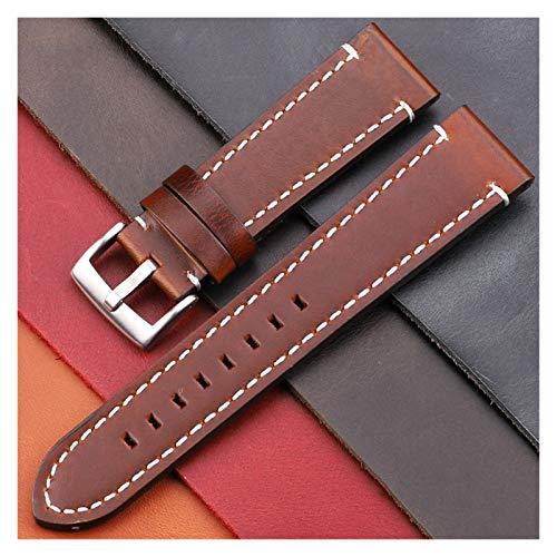 Correas Reloj Cintas de Relojes de Cuero Genuino de la Vendimia 7 Colores cinturón 18 mm 20 mm 22 mm 24 mm Mujeres Hombres Reloj de Reloj Correa de Banda Accesorios Correa Smartwatch