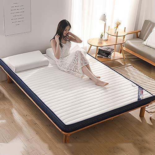 Addensare Dormire Tatami Bed Ground, Memory Foam Topper Materasso Traspirante Caldo Futon Tatami Materasso Pad Camera da Letto Dormire Materasso-Bianca 120x190cm(47x75inch) 120x190cm(47x75inch)