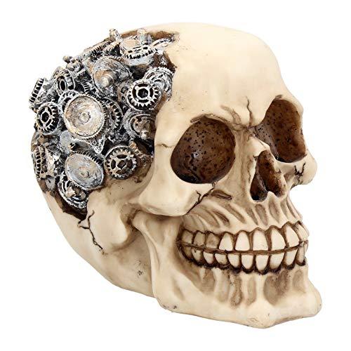 Nemesis Now Clockwork Cranium - Figura Decorativa (15 cm), Color Marfil