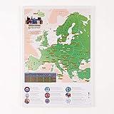 Maps International Póster de mapa para rascar, diseño de mapa de la ciudad europea, 42 x 30 cm, 50 años de fabricación de mapas