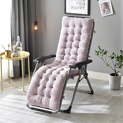 OLEEKA Long Cushion for Reclining Chairs Foldable Rocking Chair Cushion Garden Window Floor Mat Solid Color Sitting Mat Pad
