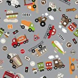 Hans-Textil-Shop Stoff Meterware Vehicles Jersey - 1 Meter,