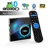 Android tv Box,T95 Android 10.0 tv Box Allwinner H616 Quadcore 4GB RAM 32GB ROM Mali-G31 MP2 GPU Support 6K 3D 1080P 2.4/5.0GHz WiFi BT5.0 10/100M Ethernet DLNA HDMI 2.0 H.265 Smart TV Box