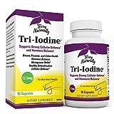 Terry Naturally Tri-Iodine 12.5 mg - 12500 mcg Iodine, 90 Vegan Capsules - Supports Hormone Balance, Promotes Breast & Prostate Health - Non-GMO, Gluten-Free, Kosher - 90 Servings