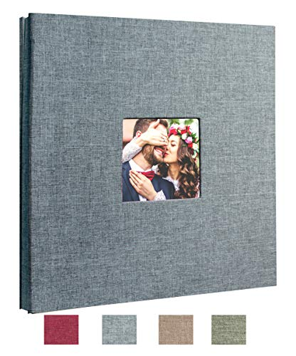 Family Adventure Book w//Scrapbooking Supplies Photo Album Book for Wedding Scrapbook Album 80 Pages Includes Silver Ink Pen Anniversary /& Memories 6 Binder Rings Corner Stickers