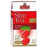 Riston Slim Tea Goji Berry Slim Tea Green Detox Tea 100% Natural Herbal Promotes Energy and Vitality, Individually Foil Wrapped Herbal Tea | 20 Tea Sachets/pack (Goji Berry)