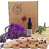 STAFECO - Kit repellente antitarme naturale in legno di cedro, olio naturale, 100% anelli di protezione dei vestiti (Medium E)