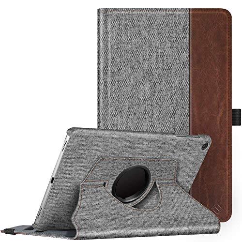 Fintie Hülle für Samsung Galaxy Tab A 10.1 T510/T515 2019, 360 Grad verstellbare Schutzhülle Cover Hülle Tasche mit Standfunktion für Galaxy Tab A 10,1 Zoll 2019 Tablet-PC, Denim grau