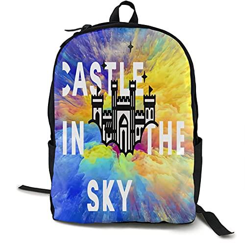 Schloss im Himmel Csic Travel Bapa Notebook-Tasche mit großer Kapazität Schultasche Leisure Busin Computer Bag Modisch Einfach für Männer & Frauen