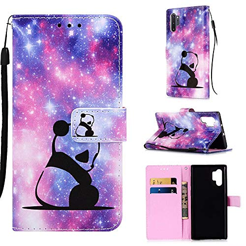 TTNAO Funda Samsung Galaxy Note10 Pro 5G/10 Pro/10+ PU Leather Bolsillo para Tarjetas Plegable Cartera Flip Folio Cierre Magnético Cover Antichoque Carcasa Case(Panda)