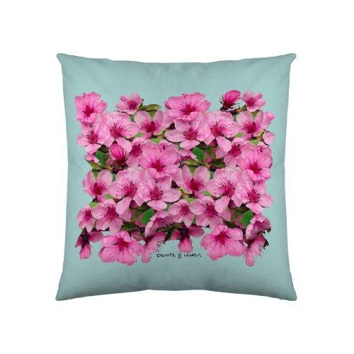 Devota & Lomba Flor Almendro Cenefa 60 x 60 cm, Verde/Rosa
