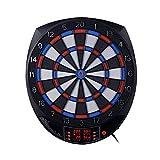 Tablero de Dardos Electrónico de 15.5 Pulgadas con Pantalla de 4 LED 27 Juegos y 243 Opciones para 16 Jugadores, Suministro de Batería