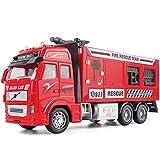DZX Simulación Inercia Camión de Bomberos Modelo Aleación Tire hacia atrás Cisterna de Agua...