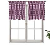 Hiiiman - Juego de 1 cenefas de cortina con diseño de círculos ornamentados, 106,7 x 45,7 cm con aislamiento térmico para sala de estar