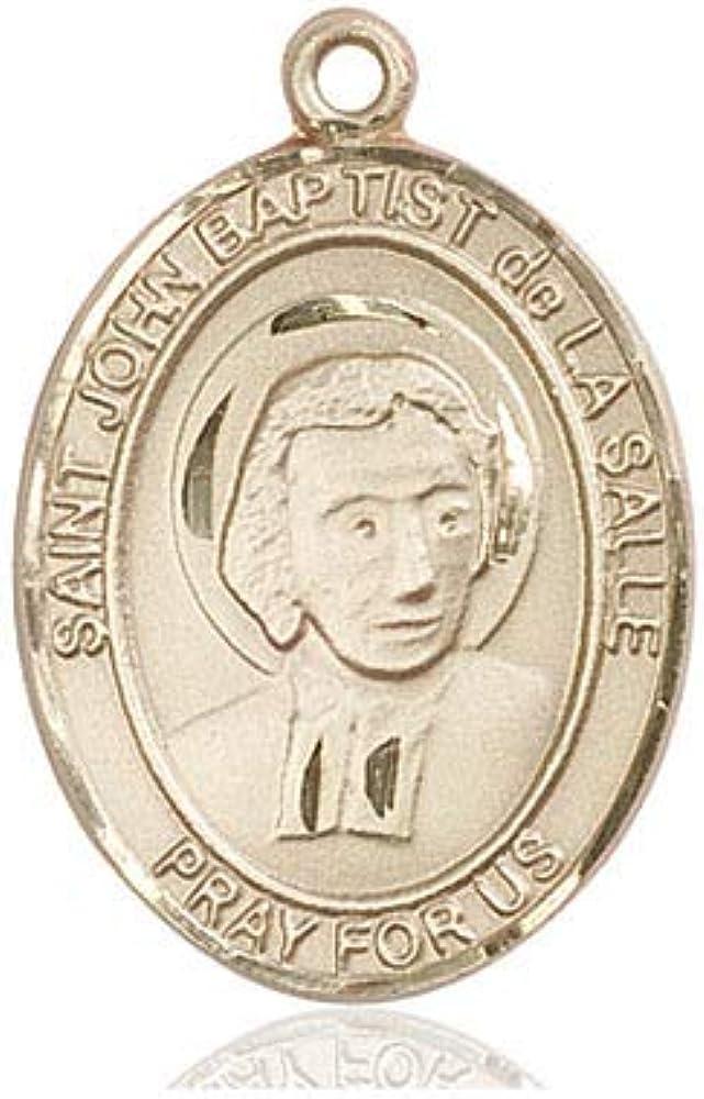 14Kt Gold Max 65% OFF St. John Baptist Popular popular Medal Salle De La