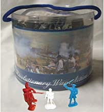 Revolutionary War Toy Soldier Tub 33 Piece Set with George Washington, Lafayette, British, Hessian and Continental Infantry, Cannon, Mortar