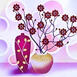 BAB.LI.JIE DIY Pintura al óleo Digital Set Pintura Imagen Arte artesanía Regalo Incluyendo hogar decoración de la Pared Arte Pared Arte Pintura Florero para embotellar(40*50 cm)