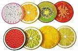 Demarkt Posavasos de Aislamiento de Calor Posavasos de Color de Frutas 8PCS - Aleatoriamente Enviado